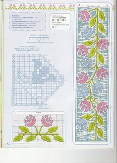 ponto-cruz-flores-10-500x400 78 gráficos de flores em ponto cruz para imprimir