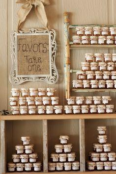Homemade jam, wedding favors! white-wedding