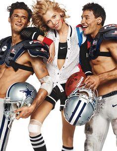 Garrett Neff & Mariano Ontañon Get in the Spirit of the Super Bowl for Vogue Paris