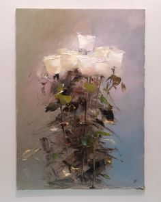 Oil Painting Flowers, Abstract Flowers, Oil Painting Abstract, Abstract Canvas, Art Flowers, Modern Oil Painting, Watercolor Painting, Oil Painting For Beginners, Painting Tips