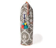 Taupe Bagh Block Print Yoga Mat Bag