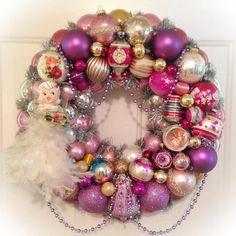 Chic Purple Pink Vintage Ornament Wreath by SugarPlum Wreaths