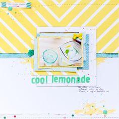 #papercraft #scrapbook #layout.  cool lemonade by Antilight at @Studio_Calico