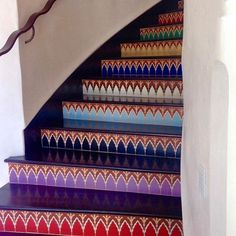 I could stare at these #tile #stairs ALL DAY LONG! Designed by @jeffsheltonarchitect these colorful beauties are something else! // #architecture #designhounds #designer #designinterior #homeinterior #homedesign #instadesign #exteriors #interiorinspo #idcdesigners #hardscape #pattern #renovation #tileometry #teamtile #tiles #tiled #tilecrush #tileaddiction #tiledesign #tilelove #tilestyle #tilework #whytile #ihavethisthingwithtiles #staircase