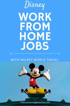 Have you dreamed of sharing your passion for all things Disney? Disney work from home jobs are a dream come true working for Mickey World Travel. Amazon Work From Home, Cash From Home, Online Work From Home, Earn Money From Home, Work From Home Jobs, Travel Agent Jobs, Online Jobs For Teens, Disney World Tickets