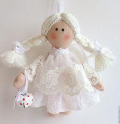 Купить Ангел-подвеска подарок на Новый год Рождество - белый, ангел, ангелочек, ангел-хранитель