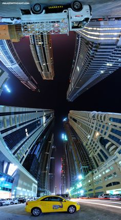 "Dubai / This is a 180° vertical Panorama of the ""Tallest Block on the Planet"", stitched from 10 horizontal photographs at 14mm focal length each. This image was quite a challenge, as it required considerable planning beforehand and the shooting had to be carried out with great care.    The Tallest Block is a cluster of Supertalls and, as you can see, is currently under construction. Once completed, these buildings will be among the tallest in the world, ranging from 80 to 120 floors in…"