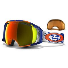 Oakley Airbrake X-Weave Neon Fire - available at CAN-SKI