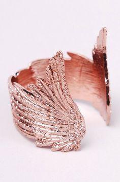 wildfox rose gold winged cuff bracelet