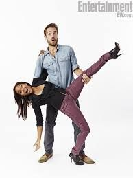 "tom mison - of new hit show ""sleepy hollow"" with his co-star the ""Lieutenant""...is what he always calls her!!!"