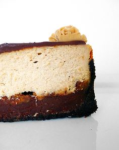 I made this tonight! VERY YUMMY!      Peanut Butter-Fudge Cheesecake {My 30th Birthday Cake} by Brown Eyed Baker