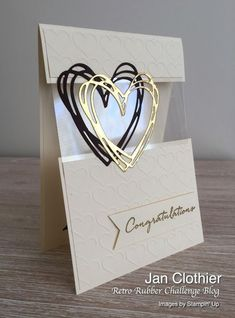 karten ideen Yow will discover nice ceremony concepts and ceremony playing cards a Love Cards, Diy Cards, Step Cards, Die Cut Cards, Acetate Cards, Wedding Congratulations Card, Wedding Cards Handmade, Handmade Engagement Cards, Simple Handmade Cards