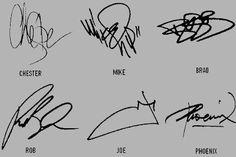 Linkin park autographes