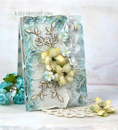 Lemoncraft: Krok po kroku z Klaudią - Step by step with Klaudia Cool Cards, Diy Cards, Lemon Crafts, Greeting Card Video, Mixed Media Cards, Shabby Chic Cards, Heartfelt Creations, Card Making Inspiration, Pretty Cards