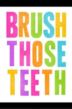 Items similar to Brush Those Teeth Art Print, Cute Brush Your Teeth Reminder Art For Bathroom, Bright Neon Typographic Print. Children's Bathroom Decor Sign on Etsy Dental Quotes, Dental Humor, Dental Hygiene, Dental Economics, Typography Prints, Lettering, Bar, Bathroom Decor Signs, Bathroom Ideas