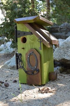 December 2nd Forest Falls Community Center (Big Falls Lodge) is have a Holiday Boutique, where 17 Artisans will be selling their wares. Bring your Holiday cheer and join us. That's in Forest Falls, Ca. 92339 Check it out! Rustic Birdhouse  Outhouse Bird House  Bird by BirdhousesByMichele, $65.00