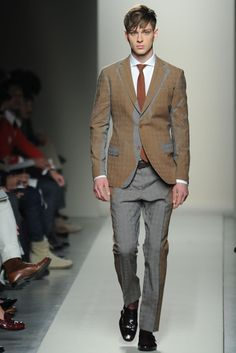 Bottega Veneta Fall 2012.  This could go wrong on so many levels, but it's got my interest for some reason.  It would really depend on the guy wearing it.