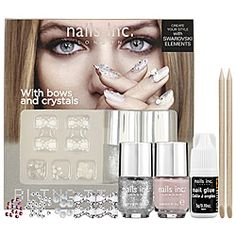 nails inc. - Bling It On Kit - Romance  ...comes with rhinestone bows.. I'm in!!! #sephora
