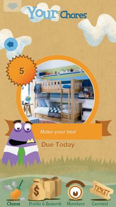 Choremonster ($0.00) allows parents and kids to actually enjoy doing their chores! Kids gain points which they can turn in for real life rewards like an hour of Xbox, a television show or even a canoe trip. Kids also collect monsters for completing chores, interacting and learning from them along the way.