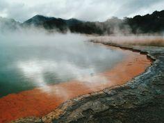 Champagne Pool, Waiotapu, #Rotorua, #NewZealand. #nature #travel #landscape #geothermal #geology #VSCOcam
