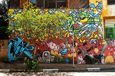 Beco do Batman (Batman's Alley), a heavily graffiti-ed zone in Sao Paulo, from watching one of these Anthony Bourdain travelogue shows. The sheer vibrancy of the street art there is just astounding, as you can tell from these photos taken by travel blogger Ling Ge.