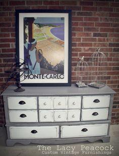 Gray and White Vintage Dresser inspiration for bedroom furniture