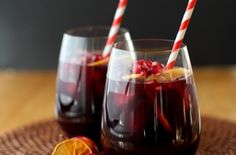 Winter Pomegranate and Orange Sangria. I did not add any ginger ale or sparkling water (true sangria isn't carbonated anyway). Christmas Drinks, Holiday Drinks, Party Drinks, Cocktail Drinks, Fun Drinks, Yummy Drinks, Holiday Recipes, Alcoholic Drinks, Beverages