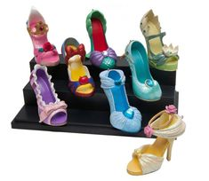 Disney Princess Shoe Ornaments. I saw these when I went to Disneyland but I really want the Alice in wonderland one.