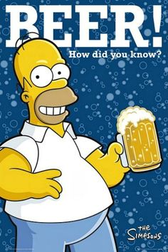 The Simpsons : Beer - Maxi Poster 61cm x 91.5cm (new & sealed)