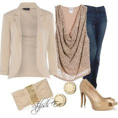 """""""Beige Party Outfit !"""" by stylisheve on Polyvore"""