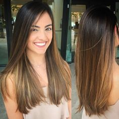 Dark Highlights for Straight Hair
