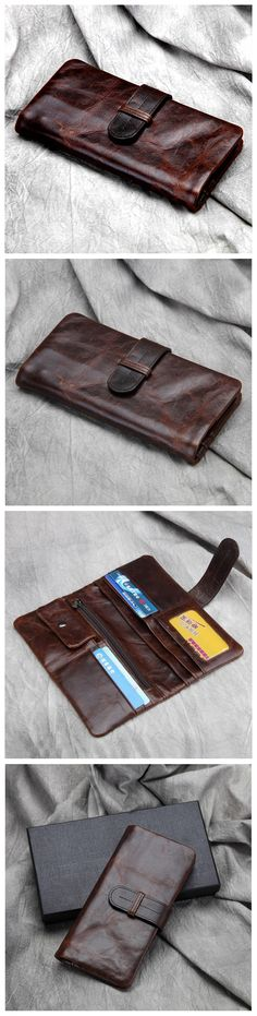 LONG LEATHER WALLET, CARD WALLET, IPHONE WALLET JX002