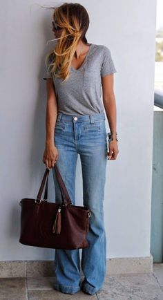 T-shirt/Jeans with low rise