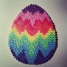 Easter egg hama beads by nat_doudouexpress