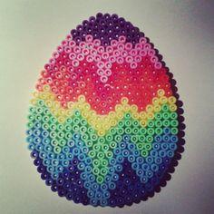 Easter egg hama beads by nat_doudouexpress