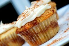 Cinnamon Roll Cupcakes !