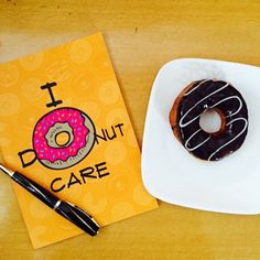 #Donuts lovers?  Than our #IDonutCare #notebook is perfect for you .  Perfect #sunday #smghut  www.smghut.com