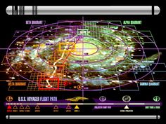 Below - Maps of the galaxy in the Star Trek universe + interior maps of the Enterprise and Voyager ships.