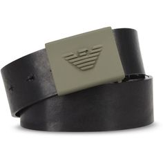 Armani Jeans Textile Belt ($97) ❤ liked on Polyvore featuring mens fashion, mens accessories, mens belts, black, mens genuine leather belts, mens leather accessories and mens leather belts