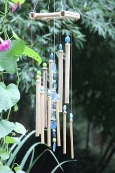Beautiful Hand Crafted Bamboo Wind Chimes by KieffersKrafts, $43.00