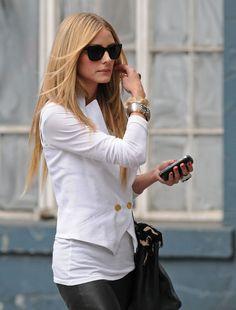 white blazer & tee
