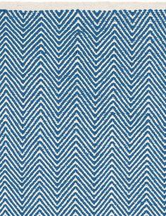 Chevron Rug - Denim blue