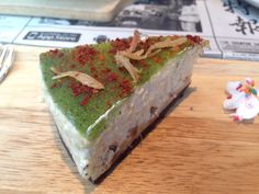 Nasi Lemak Cheese Cake, cheese cake with exploding flavours