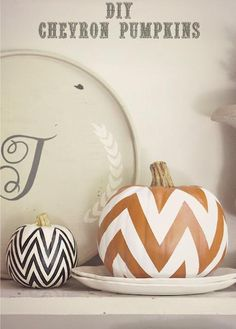 DIY Halloween: DIY Chevron Pumpkins: DIY Halloween Decorations