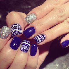 aztec nail designs pinterest - Google Search