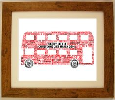 Personalised Bus Christening / Baby / Child Word by ArtyAlphabet, £10.00