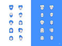 Basic Avatars MSC by Petr Had #Design Popular #Dribbble #shots