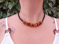 Natural amber macrame necklace / mexican red amber bead   Etsy Love Bracelets, Bangle Bracelets, Bangles, Macrame Necklace, Amber Necklace, I Love Mexico, Amber Beads, Boho Rings, Healing Stones