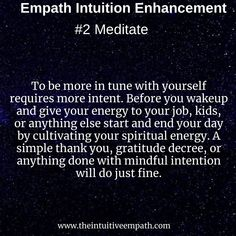 Fundamental ways empaths can increase their innate psychic abilities Spiritual Enlightenment, Spiritual Growth, Spiritual Awakening, Empath Abilities, Psychic Abilities, Intuitive Empath, Empath Traits, Psychic Development, Spiritual Development