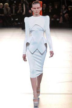 Fall 2012 Mugler white dress